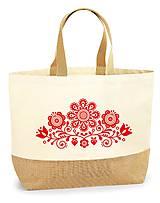 Nákupné tašky - Taška XL Kvety ľudový motív 03 - 10778606_