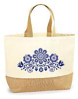 Nákupné tašky - Taška XL Kvety ľudový motív 03 - 10778607_