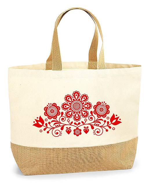 Taška XL Kvety ľudový motív 03