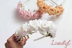 Ozdoby do vlasov - Kvetinová čelenka pre družičky - 10777181_