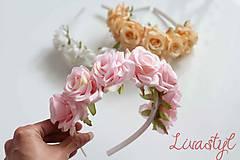 Ozdoby do vlasov - Kvetinová čelenka pre družičky - 10777185_