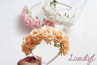 Ozdoby do vlasov - Kvetinová čelenka pre družičky - 10777191_