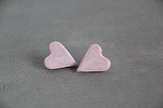 Náušnice - Naušnice srdcia - 10776802_