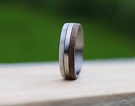 Prstene - Prsteň orech & parožie - 10776692_