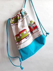 Detské tašky - Vrecúško na prezuvky - vak- ruksak- pre deti (Tyrkysová) - 10778723_