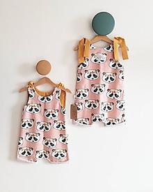 Detské oblečenie - Letný overal Panda BIO - 10779698_
