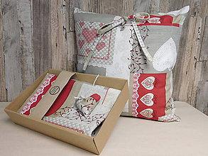 Úžitkový textil - Darčekový set - 2 obliečky na vankúš + štóla - 10779445_