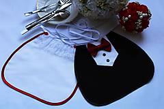 Svadobné podbradníky ...vínovo červené