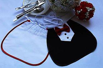Iné doplnky - Svadobné podbradníky ...vínovo červené - 10778480_
