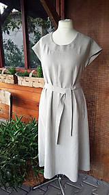 Šaty - Natur šaty ľanové - 10778815_