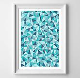 Grafika - Škandinávska geometrická abstrakcia Triangles - 10777552_