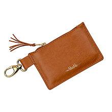 Peňaženky - Kožená kľúčenka/peňaženka MARATHON - červená (Meď/Bronz) - 10779418_