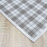 Úžitkový textil - KAMIL-hnedo béžový patchwork a káro na režnej-štvorec 40x40 - 10776694_