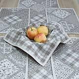 Úžitkový textil - KAMIL-hnedo béžový patchwork a káro na režnej-štvorec 40x40 - 10776696_