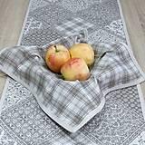 Úžitkový textil - KAMIL-hnedo béžový patchwork a káro na režnej-štvorec 40x40 - 10776697_