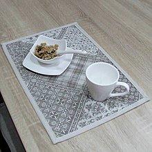 Úžitkový textil - KAMIL-hnedo béžový patchwork a káro na režnej-prestieranie 28x40 - 10778586_