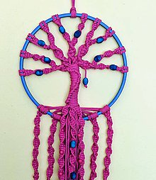 Dekorácie - Macramé strom života s korálkami - 10778284_