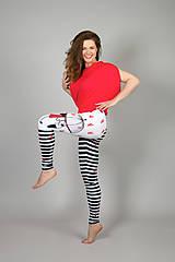 Nohavice - Legíny, čierno - biele , Love - 10779496_