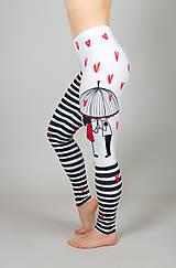 Nohavice - Legíny, čierno - biele , Love - 10779497_