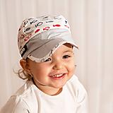 Detské čiapky - Letná šiltovka rybičky - 10779359_