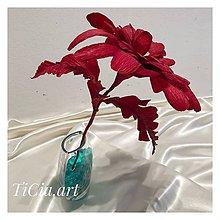 Dekorácie - Exotická bordová gerbera - 10777042_