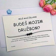 Darčeky pre svadobčanov - Náramok so želaním pre družbu - 10776960_