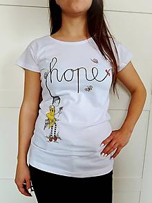 Tričká - Tričko - HOPE, biela - 10778898_