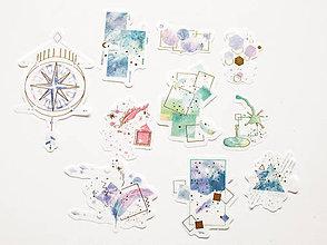 """Papier - Set nálepiek """" abstrakt geometric /zlatá"""" - 10778693_"""