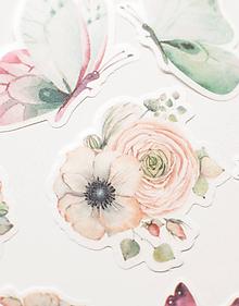 "Papier - Set nálepiek ""ranunculus & anemone "" - 10778716_"