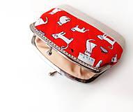 Peňaženky - Peňaženka XL Biele mačky - 10779020_
