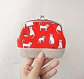 Peňaženky - Peňaženka XL Biele mačky - 10779021_