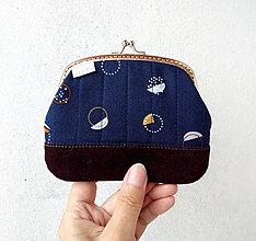 Peňaženky - Peňaženka XL Minimalistická geometria - 10777818_