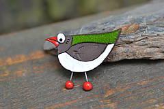 Odznaky/Brošne - ptáček (Pestrofarebná) - 10779028_
