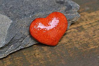 Odznaky/Brošne - brož srdce (Oranžová) - 10778998_