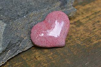 Odznaky/Brošne - brož srdce (Ružová) - 10779007_