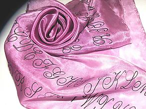 Šatky - Hodvábna šatka s monogramom na mieru - 10778773_
