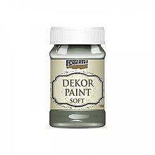 Farby-laky - Dekor paint soft - khaki zelená, 100ml - 10777021_