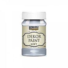 Farby-laky - Dekor paint soft - ľadová modrá, 100ml - 10777027_