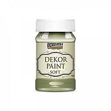 Farby-laky - Dekor paint soft - olivová, 100ml - 10777028_