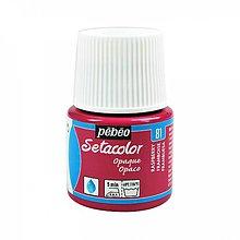 Farby-laky - Pebeo-Setacolor opaque, 81 Raspberry,45 ml - 10779206_