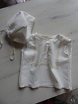 Detské súpravy - Detské ľanové oblečenie - 10777512_