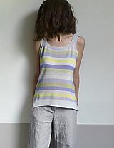 Tielka - tielko pásikové pastelové - 10779141_