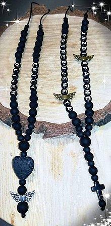Iné šperky - Prívesok alebo amulet do auta  na želanie s textom menom alebo dátumom aj farebne podla vašeho priania - 10781544_