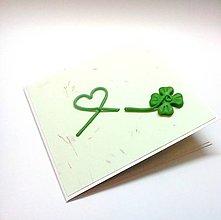 Papiernictvo - Pohľadnica ... s láskou pre šťastie - 10781356_