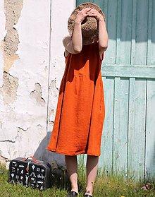 Šaty - bezrukávu/oranžové - 10779887_