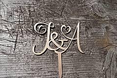 Dekorácie - tortové iniciály - 10780514_