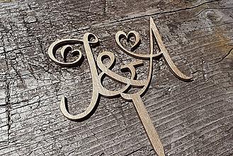 Dekorácie - tortové iniciály - 10780515_
