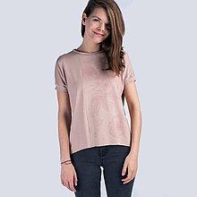 Tričká - Růžové tričko Bambus kytičky - 10780517_