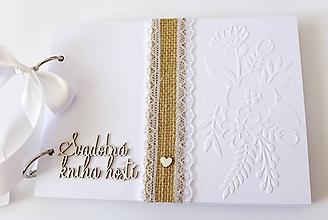 Papiernictvo - svadobná kniha hostí - 10780479_