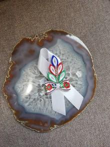 Pierka - Pierko v tvare listu s mašličkou - 10781756_